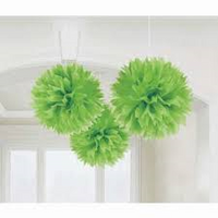 Decorative Puff 40 cm Lime Green Pack 2