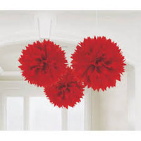 Decorative Puff 40 cm Red Pack 2