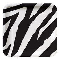 Animal Print Zebra Luncheon Plates (18cm) Paper - Pack of 8