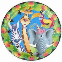 Jungle Party Plate 18cm Jungle Party - Pack of 8