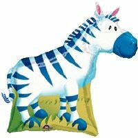 Super Shape Jungle Zebra (Flat) Foil Balloon