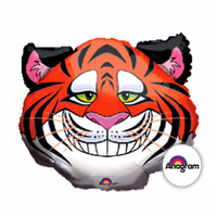 Shape Tickled Tiger Foil Balloon (self sealing balloon, requires helium inflation)