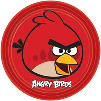 ANGRY BIRDS DINNER PLATES 9 inch pkt 8