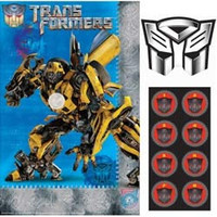 Game Transformers 3 Includes 1 poster, 8 stickers and 1 paper blindfold.