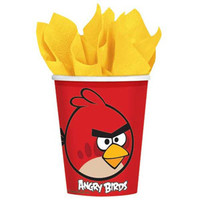 Angry Birds Cups 266ml, Paper - Pack of 8