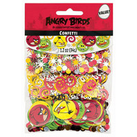Confetti Angry Birds 34grams of Assorted Red & Yellow Metallic Stars, Gold Swirls, and Circular Shapes featuring your favourite Angry Birds Characters. - Bag