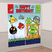 Scene Setter Kit Angry Birds (2 x 82.5cm x 149cm, 1 x 113cm x 40.6cm, 2 x 26cm x 40.6cm)
