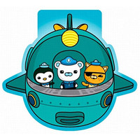 Octonauts Shaped Notepad, Measures 6.5cm Wide x 6cm High. - Pack of 6