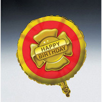 Firefighter Birthday 45cm Foil Balloon (Self sealing balloon, requires helium inflation)