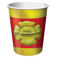 Firefighter Cups, Hot/Cold (266ml) Paper - Pack of 8