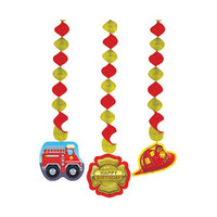 Firefighter Hanging Cutouts, - Pack of 3