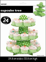 DOTS LIME GREEN CUPCAKE TREE