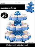 DOTS ROYAL BLUE CUPCAKE TREE