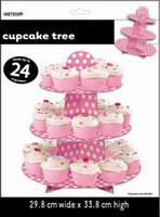 DOTS HOT PINK CUPCAKE TREE
