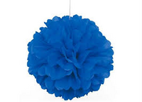 Decorative Puff 40 cm Royal Blue Pack 1