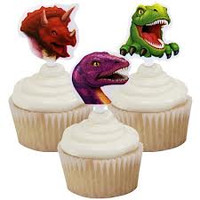 Dinosaur Cupcake Toppers Pk 12 (3 assorted designs)