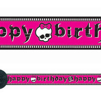"Crepe Streamer Monster High ""Happy Birthday"" (9.14 metres long) - Each"
