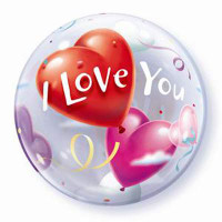 I Love You Balloon Bubble Heart