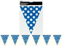 DOTS ROYAL BLUE FLAG BANNER 3.6m (12')