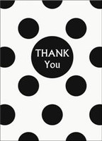 DOTS BLACK 8 THANK YOU NOTES