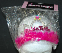 Tiara Bride to Be with Hot Pink Fur