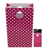 6 PK PARTY BAG - HOT PINK DOT