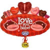 Sing-A-Tune Love You Monkey Foil Balloon