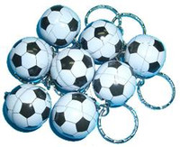 SOCCER BALL KEYRINGS