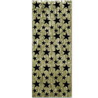 Curtain Gold with Black Stars - Foil (90cm Wide x 2.4 Metre Drop) - Each