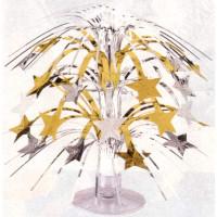 Centrepiece Cascade Stars Mini Gold & Silver (21cm
