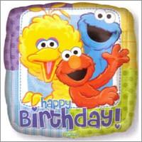 45cm Birthday Sesame Street Foil Balloon