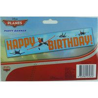 Disney Planes Banner, Happy Birthday (150cm W x 30cm H) -