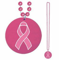 Pink Ribbon Bead