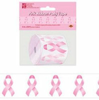 Pink Ribbon Party Tape 3' x 50 ft