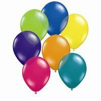 12cm Fantasy Assortment Latex Balloon (Jewel Magenta, Teal, Quartz Purple, Lime, Sapphire Blue, Citrine Yellow & Orange) - Pack of 100