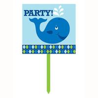 Ocean Preppy Boy Yard Sign, Plastic