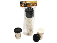 Disposable Coffee Cups with Lids pk20