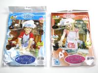 Kids Apron & Chefs Hat Set Pink