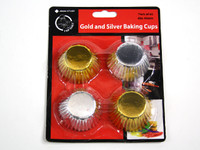 Mini Cupcake Baking Cups Gold & Silver pk60