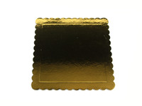 Square Cake Board Base 26cm Gold