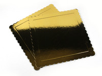 Square Cake Board Base 32cm Gold