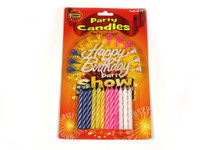 Birthday Candles with Happy Birthday Sign