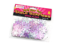 Silver & Pink Snowflakes