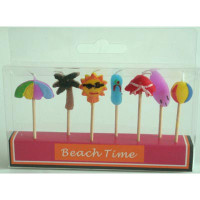 Beach Time 7 pieces assorted candles