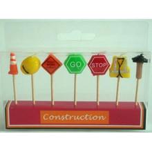 Construction 7 piece Candle set