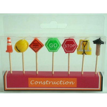 Construction 7 piece Candle set