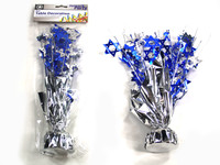 Star Silver & Blue Table Centerpiece