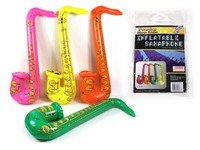 75cm Inflatable Saxaphone Orange