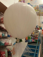 3ft Balloon with Helium , Tulle and Flower and Ribbon