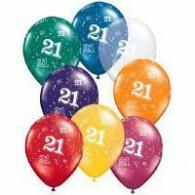 12cm 21 Around Jewel Assorted Latex Balloon Pack of 100